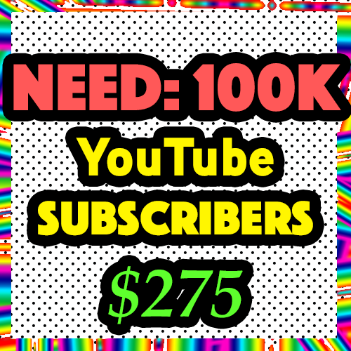100,000 YouTube Channel Subscribers