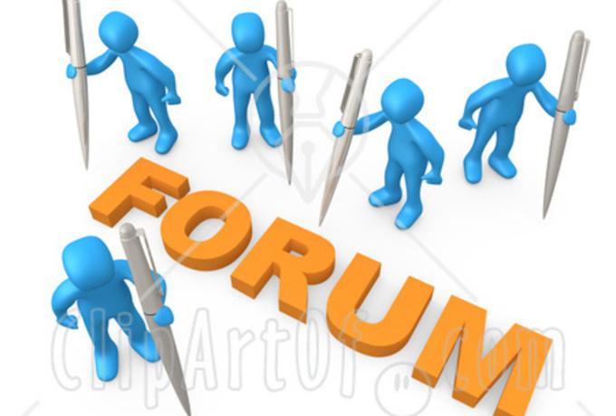 Niche Relevant Forum Posting 2 Each Forum Total 8 Backlinks