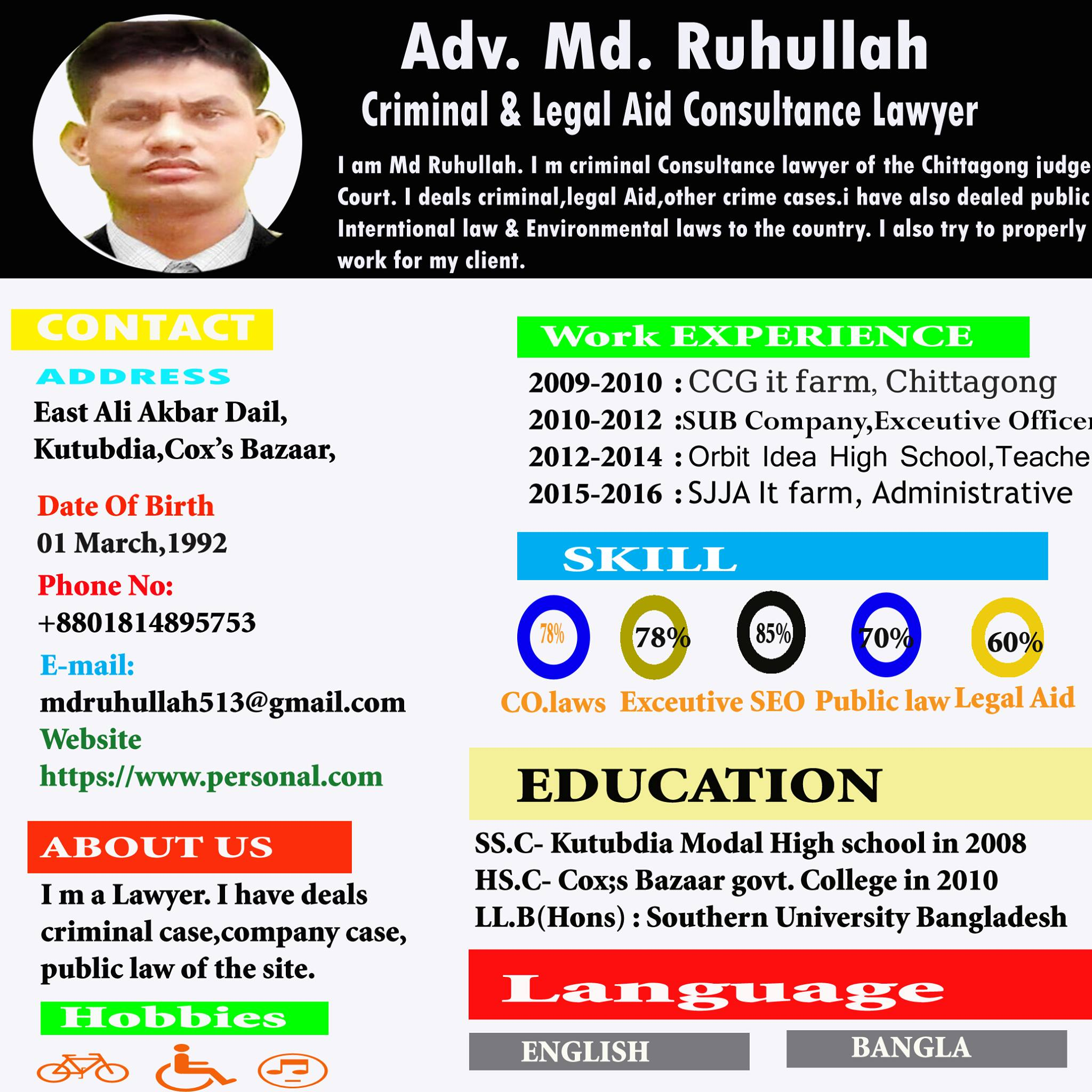 I will Create  Both sides Business card And Professional Resume within 24 Hours.
