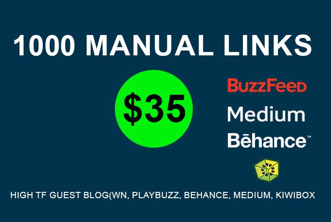 Need to 1000 MANUAL High PR Backlinks