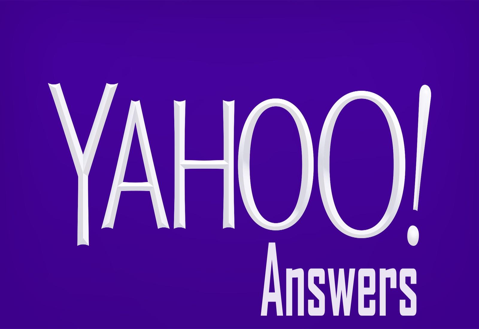 Need 10 Yahoo Answers Level 3 Accounts Job For 30 By Rumon86