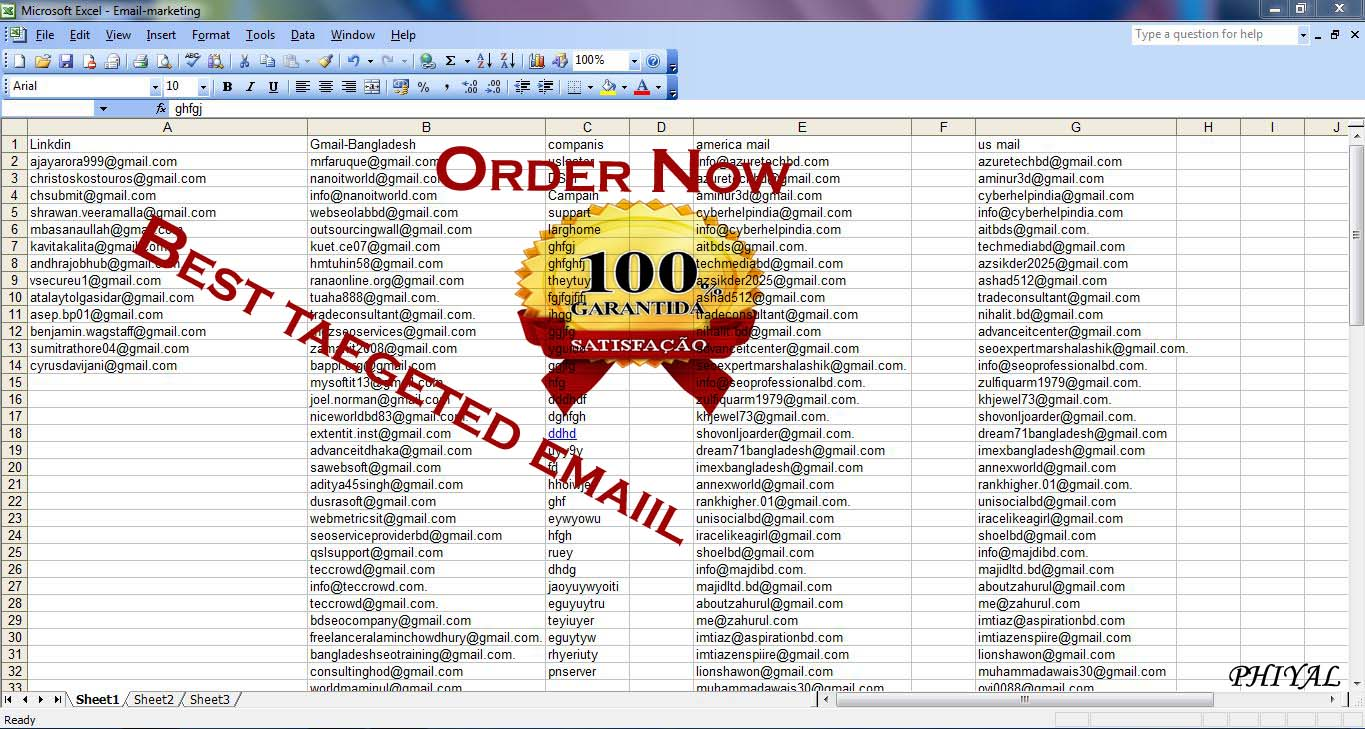 Active 10,000 USA and any Country Email List For any