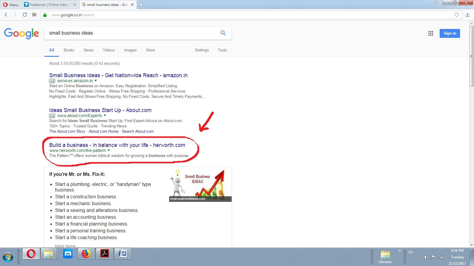 Rank Website On Google. co. in First Page Within Month with 04 ...