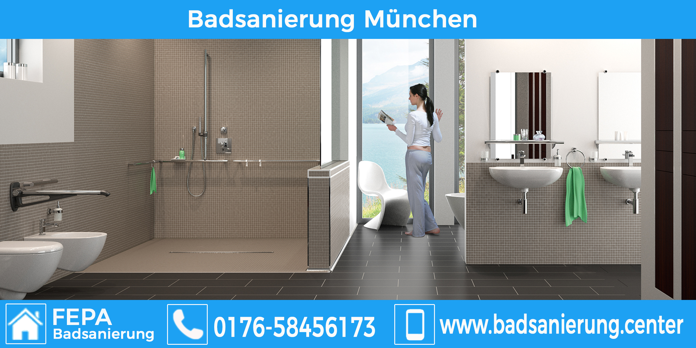 Google de page 1 with 5 keywords job for 100 by for Badsanierung munchen
