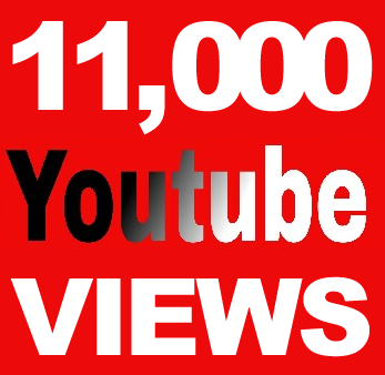 Youtube 11K V.I.E.W.S and 500 L.I.K.E.S for $6