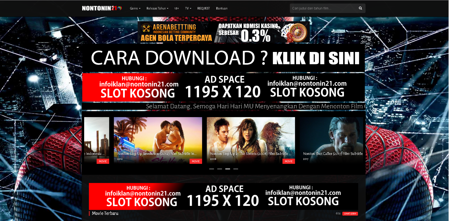 1 Month 1 Banner Advertising on Movie Site Home Header 1195x120 for