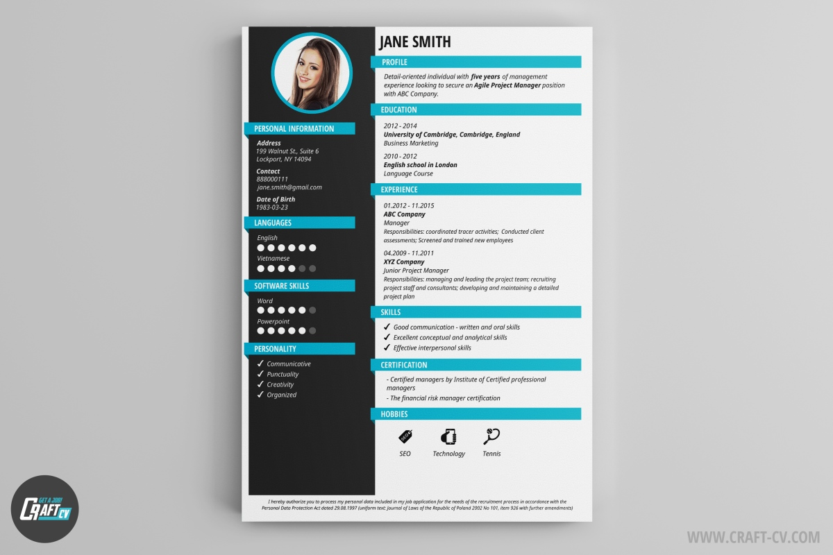 i will create a cv for u