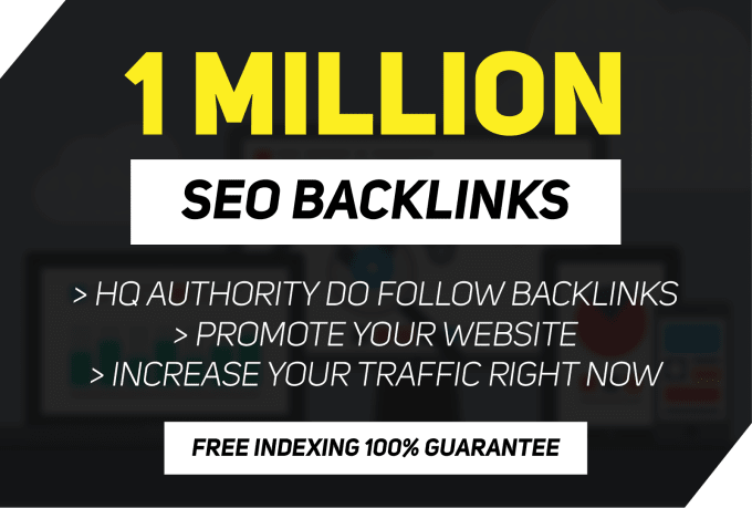 i need someone to do 1million gsa backlinks