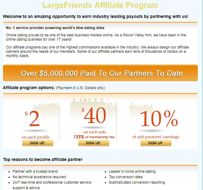 Online dating sites affiliate programs