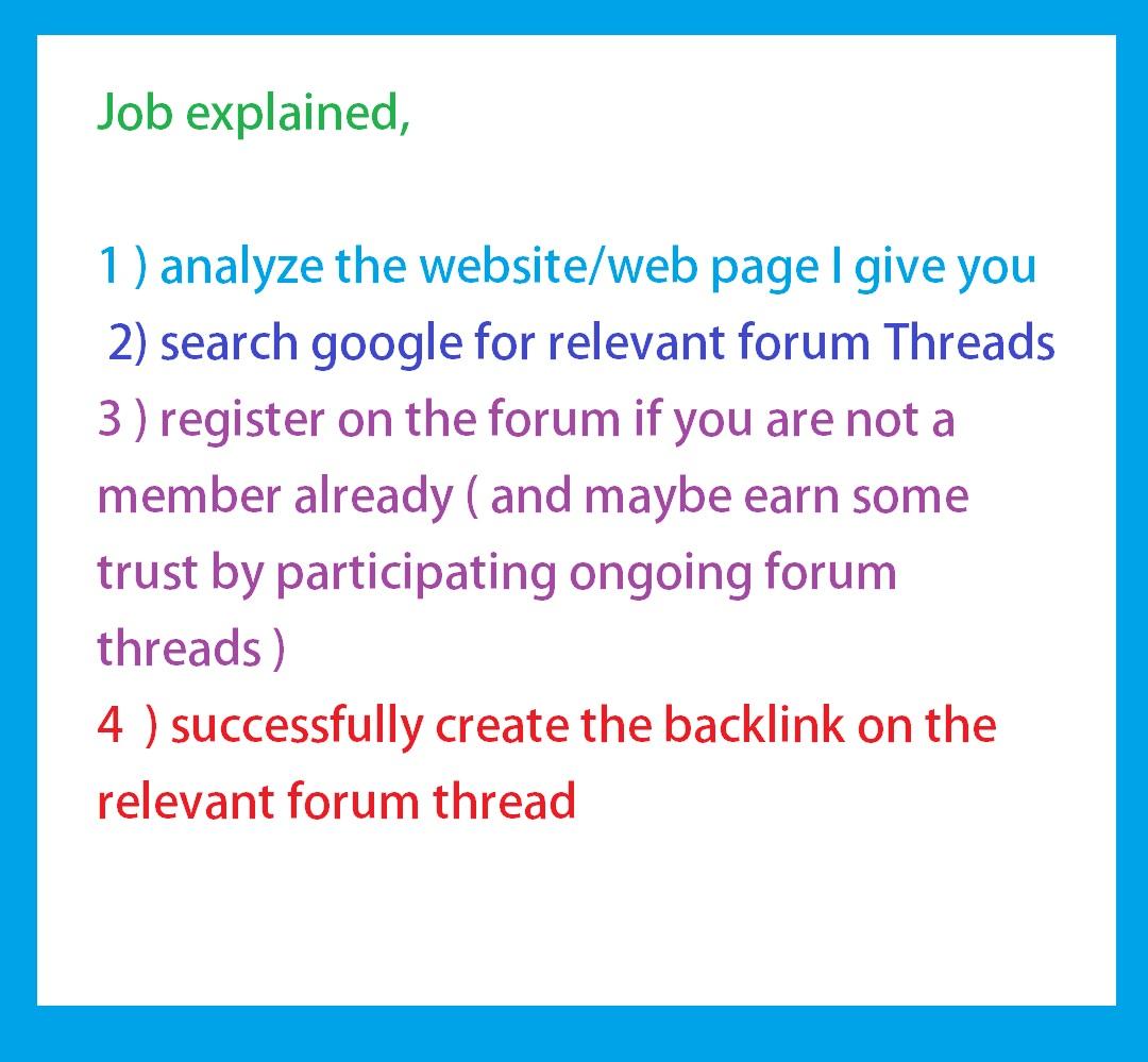 A Manual Forum Posting Job - SEOClerks