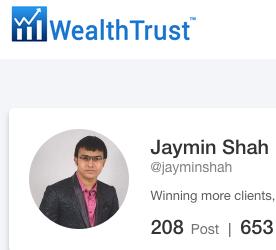Want 300 f0llowers on WealthTrust.com