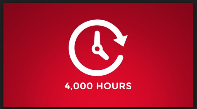 i want 4000 youtube watch time