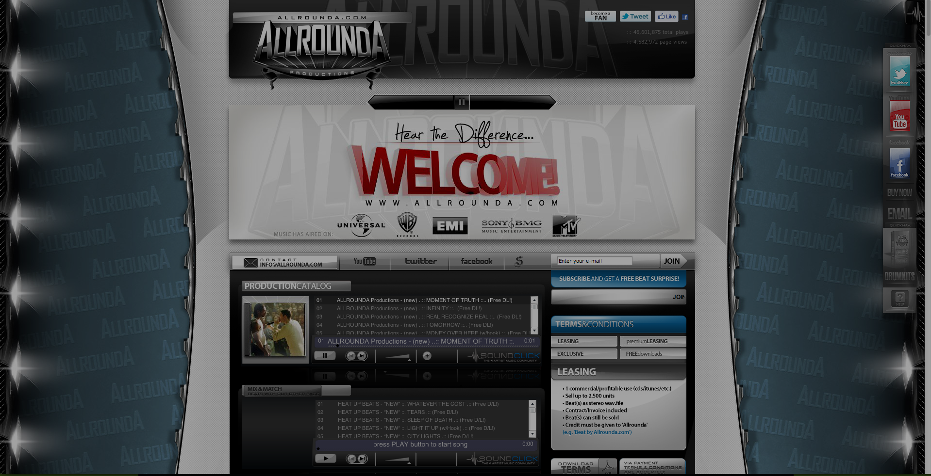 a professional VIP SoundClick layout, design and installation  Need